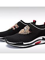 Недорогие -Муж. Комфортная обувь Tissage Volant Весна & осень Мокасины и Свитер Черный / Светло-серый