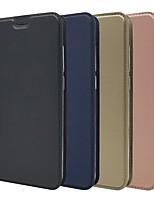 Недорогие -Кейс для Назначение Xiaomi Xiaomi Pocophone F1 / Xiaomi Redmi 6 Pro Бумажник для карт / со стендом / Флип Чехол Однотонный Твердый Кожа PU для Redmi Note 5A / Xiaomi Redmi Note 5 Pro / Xiaomi Redmi