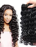 Недорогие -4 Связки Бразильские волосы Крупные кудри Натуральные волосы Подарки Человека ткет Волосы Уход за волосами 8-28 дюймовый Естественный цвет Ткет человеческих волос Машинное плетение