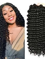 Недорогие -4 Связки Бразильские волосы Малазийские волосы Крупные кудри человеческие волосы Remy Натуральные волосы Подарки Косплей Костюмы Человека ткет Волосы 8-28 дюймовый Естественный цвет