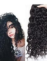 Недорогие -4 Связки Перуанские волосы Волнистые 8A Натуральные волосы Необработанные натуральные волосы Подарки Косплей Костюмы Головные уборы 8-28 дюймовый Естественный цвет Ткет человеческих волос