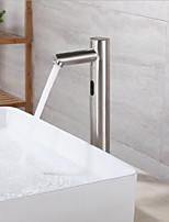 abordables -Robinet lavabo - Séparé / A détecteur Acier inoxydable Sur Pied Mains libres un trouBath Taps / Laiton