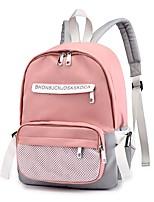 Недорогие -Жен. / Девочки Мешки Нейлон рюкзак Молнии / С отверстиями Сплошной цвет Черный / Розовый