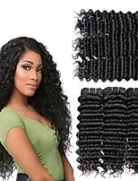 Недорогие -6 Связок Бразильские волосы Индийские волосы Крупные кудри 8A Натуральные волосы Необработанные натуральные волосы Подарки Косплей Костюмы Головные уборы 8-28 дюймовый Естественный цвет