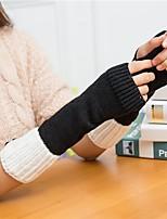 Недорогие -женские перчатки без рукавов - жаккардовые