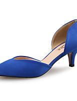 Недорогие -Жен. Синтетика Весна лето Обувь на каблуках На шпильке Заостренный носок Винный / Миндальный / Тёмно-синий