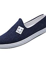 Недорогие -Муж. Комфортная обувь Полотно Зима На каждый день Мокасины и Свитер Нескользкий Черный / Синий / Хаки