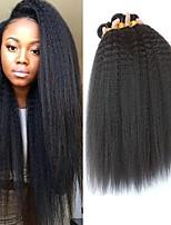 Недорогие -6 Связок Бразильские волосы Естественные прямые Не подвергавшиеся окрашиванию Подарки Головные уборы Человека ткет Волосы 8-28 дюймовый Естественный цвет Ткет человеческих волос Гладкие Sexy Lady