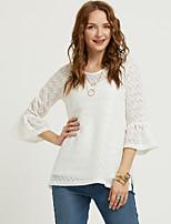 Недорогие -женская тонкая футболка - однотонная шея