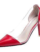 Недорогие -Жен. Полиуретан Зима Минимализм Обувь на каблуках На шпильке Заостренный носок Черный / Бежевый / Красный