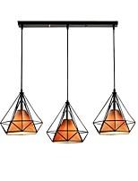 abordables -3 lumières Cône / Industriel Lampe suspendue Lumière d'ambiance Finitions Peintes Métal Corde, Créatif 110-120V / 220-240V