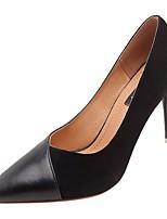 Недорогие -Жен. Полиуретан Весна Обувь на каблуках На шпильке Заостренный носок Черный / Бежевый / Темно-коричневый