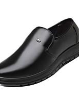 Недорогие -Муж. Комфортная обувь Полиуретан Зима Деловые Мокасины и Свитер Нескользкий Черный
