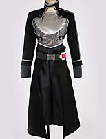 Недорогие -Вдохновлен Sword Art Online Kirito Аниме Косплэй костюмы Косплей Костюмы Особый дизайн Кофты / Брюки / Перчатки Назначение Муж. / Жен.