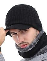 Недорогие -Универсальные Классический Лыжная шапочка - Плиссировка Однотонный