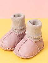 Недорогие -Девочки Обувь Синтетика Наступила зима Обувь для малышей / Зимние сапоги Ботинки для Дети (1-4 лет) Серый / Коричневый / Розовый