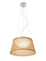 baratos -UMEI™ tigela / Lanterna / Novidades Luzes Pingente Galvanizar Madeira / Bambu Madeira / Bambu Criativo, Ajustável, Novo Design 110-120V / 220-240V Branco Quente / Branco