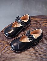 Недорогие -Девочки Обувь Искусственная кожа Осень Удобная обувь На плокой подошве Шнуровка для Дети Белый / Черный / Розовый / Контрастных цветов