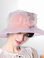 Недорогие -Elizabeth Чудесная миссис Мейзел Фетровые шляпы Кентукки шляпа дерби шляпа Дамы Ретро Жен. Розовый Цветы Конструкция САР органза костюмы