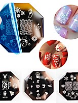 baratos -3 pcs Decalques Multifunção / Melhor qualidade Natal Criativo arte de unha Manicure e pedicure Natal / Festival Na moda / Fashion