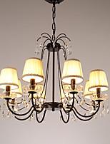 abordables -JLYLITE 8 lumières Circulaire / Bougie Lustre Lumière dirigée vers le haut Plaqué Métal Style Bougie 110-120V / 220-240V