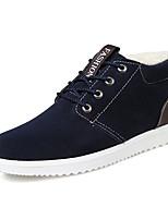 Недорогие -Муж. Комфортная обувь Замша Зима На каждый день Кеды Сохраняет тепло Серый / Коричневый / Синий