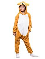 abordables -Pyjamas Kigurumi Ours Combinaison de Pyjamas Polaire Jaune Cosplay Pour Garçons et filles Pyjamas Animale Dessin animé Fête / Célébration Les costumes