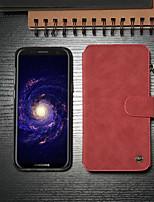 Недорогие -CaseMe Кейс для Назначение SSamsung Galaxy S8 Кошелек / Бумажник для карт / со стендом Чехол Однотонный Твердый Кожа PU для S8