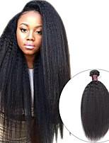 Недорогие -3 Связки Монгольские волосы Вытянутые 8A Натуральные волосы Необработанные натуральные волосы Подарки Косплей Костюмы Головные уборы 8-28 дюймовый Естественный цвет Ткет человеческих волос