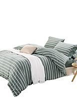 Недорогие -Пододеяльник наборы Stripes / Рябь Бамбук / хлопок Крашенный в пряже 4 предметаBedding Sets