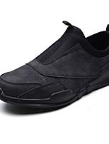 Недорогие -Муж. Комфортная обувь Полиуретан Весна & осень Классика Мокасины и Свитер Доказательство износа Серый / Коричневый / Темно-серый
