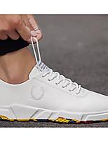 Недорогие -Муж. Комфортная обувь Микроволокно Весна & осень Кеды Белый / Черно-белый / Розовый и белый