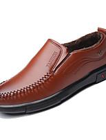 Недорогие -Муж. Комфортная обувь Полиуретан Зима На каждый день Мокасины и Свитер Доказательство износа Черный / Коричневый