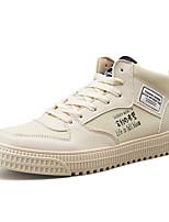 Недорогие -Муж. Комфортная обувь Сетка Наступила зима На каждый день Кеды Белый / Черный / Бежевый