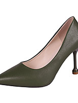 Недорогие -Жен. Полиуретан Зима На каждый день Обувь на каблуках На шпильке Черный / Бежевый / Зеленый