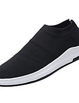 Недорогие -Муж. Комфортная обувь Сетка Осень На каждый день Мокасины и Свитер Дышащий Черный / Серый / Красный
