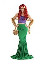 abordables -Princesse Sirène Ariel Maillots de Bain Femme Adulte Robe sirène et robe évasée Halloween Carnaval Mascarade Fête / Célébration Lycra Tenue Vert Sirène