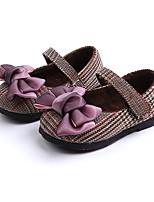 Недорогие -Девочки Обувь Синтетика Весна & осень Удобная обувь / Обувь для малышей На плокой подошве для Ребёнок до года Лиловый / Розовый