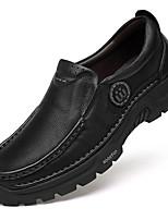 Недорогие -Муж. Кожаные ботинки Наппа Leather Весна & осень Деловые / На каждый день Мокасины и Свитер Массаж Черный / Коричневый