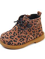 Недорогие -Девочки Обувь Свиная кожа Наступила зима Удобная обувь / Армейские ботинки Ботинки для Дети (1-4 лет) Кофейный / Коричневый