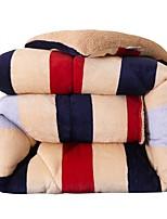 baratos -Confortável - 1 Edredom Outono / Inverno Microfibra Listrado / Geométrica
