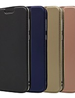 abordables -Coque Pour Motorola MOTO G6 / Moto G6 Plus / Moto G5s Plus Porte Carte / Avec Support / Clapet Coque Intégrale Couleur Pleine Dur faux cuir
