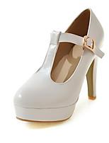 Недорогие -Жен. Синтетика Осень Обувь на каблуках На шпильке Круглый носок Белый / Оранжевый / Розовый / Свадьба / Для вечеринки / ужина
