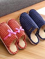 Недорогие -Женские тапочки / Мужские тапочки / Тапочки для девочек Тапочки для гостей / Домашние тапки На каждый день Махровая ткань Бант / Один цвет Обувь