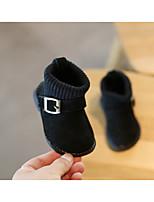 Недорогие -Мальчики / Девочки Обувь Кожа Зима Обувь для малышей / Зимние сапоги Ботинки для Дети (1-4 лет) Черный / Желтый / Винный