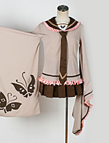 abordables -Inspiré par Vocaloid Kagamine Rin Manga Costumes de Cosplay Costumes Cosplay Motif / Conception spéciale / Papillon Haut / Jupe / Cravate Pour Homme / Femme
