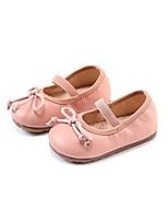 Недорогие -Девочки Обувь Кожа Весна & осень Обувь для малышей / Детская праздничная обувь На плокой подошве для Дети Черный / Красный / Розовый