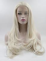 Недорогие -Синтетические кружевные передние парики Жен. Кудрявый Белый Свободная часть 180% Человека Плотность волос Искусственные волосы 18-26 дюймовый Регулируется / Кружева / Жаропрочная Белый Парик Длинные