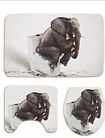 Недорогие -1 комплект Modern Коврики для ванны 100 г / м2 полиэфирный стреч-трикотаж Геометрический принт нерегулярный Ванная комната Милый