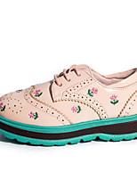 Недорогие -Девочки Обувь Полиуретан Весна & осень Удобная обувь / Светодиодные подошвы Туфли на шнуровке для Для подростков Белый / Черный / Розовый
